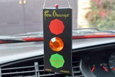 Feu Orange Traffic Light Replica Car Air Freshener - '80s