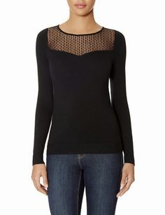 Mesh Yoke Sweater from THELIMITED.com #ItsTime #TheLimited