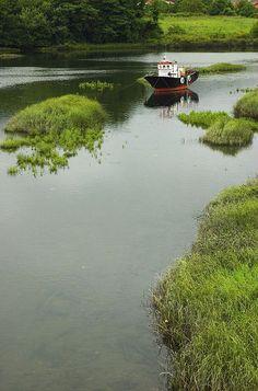 Barco na Ría de Noia, Galicia_ Spain