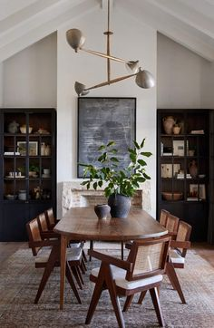 Dining Room 797348309012623927 - Simeon Dining Table – Shoppe Amber Interiors Source by Interior Modern, Home Interior, Italian Interior Design, Dining Room Design, Dining Room Modern, Black Dining Room Table, Living Dining Rooms, Wood Dining Room Tables, Contemporary Dining Rooms
