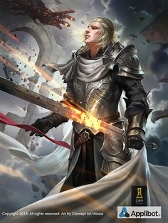 Artist: Concept Art House - Title: King of Time - Card: Blind Patriot Hector