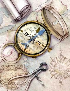 Image result for compass art