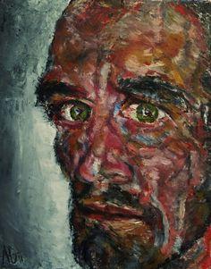 "Self Portrait, Oil on Canvas 10x8"",  © Copyright 2011 Alan Derwin"