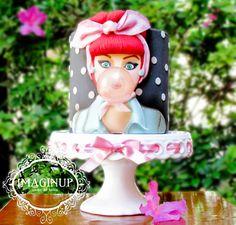 Pinup cake by Imaginup Cupcakes e Bolos Decorados website http://www.imaginup.com.br/ facebook https://www.facebook.com/imaginupCupcakesEBolosDecorados