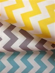 Chevron Love! Yellow, Aqua and Grey