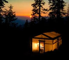 Sequoia High Sierra Camp // Old school hike-in, three meals included with your rate.