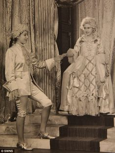 Young royals: Princess Margaret and Princess Elizabeth (left) in the play Cinderella, 1941, at the Royal School, Windsor (left). Description from chandusheth.blogspot.com. I searched for this on bing.com/images