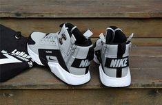 a9c0f14870a9 New NIke Huarache X Acronym City MID Leather Winter Men s Shockproof Warm  Sports Shoes Grey   Black