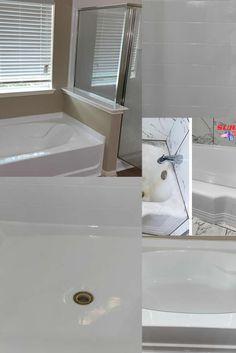 Bathtub Repair and Refinshing Refinish Countertops, Cabinets And Countertops, Tub Resurfacing, Bathtub Repair, Jacuzzi Tub, Surface Design, Designers, Vanity, Goals