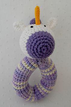 unicorn rattle crochet by emilylbaum on Etsy