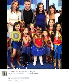 "These Photos Show Exactly Why Wonder Woman Is So Important ""Why representation always matters: Wonder Woman edition. Fandoms, Dc Movies, Intersectional Feminism, Faith In Humanity, Gal Gadot, Human Rights, Chris Pine, Marvel Dc, Girl Power"