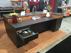 Docking Drawer In The Hafele Booth At AWFS Company News, Electrical  Outlets, Drawers,
