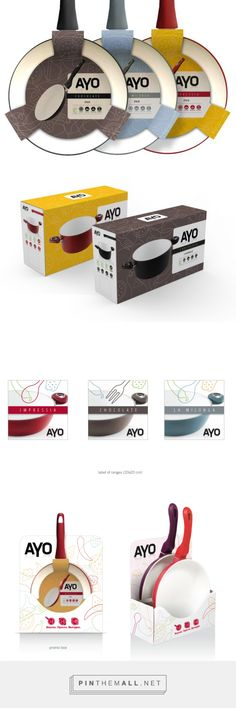 Ayo Cookware | raffaele mirarchi. Nice collection of pots and pans packaging PD - created via https://raffaelemirarchi.wordpress.com/2013/09/15/ayo-cookware/