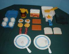 Breakfast toy set 80's-90's
