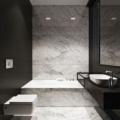mooie zwarte muur en overloop wastafel over bad