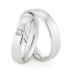 Classic and sleek white gold wedding bands by Christian Bauer