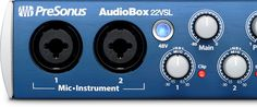 PreSonus AudioBox 22VSL 2 channel recording interface with XMAX class A preamps. This box comes with Presonus Studio One Artist recording software which is a $200 software.