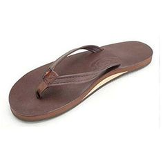 4f6e47ea32a3 Rainbow Women s Single Layer Premier Leather with Arch Support and a Narrow  Strap Mocha