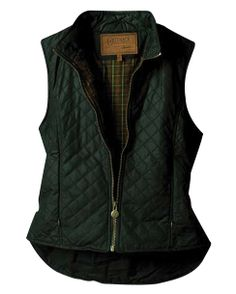 Outback Trading Co. Women's Quilted Oilskin Vest - english green
