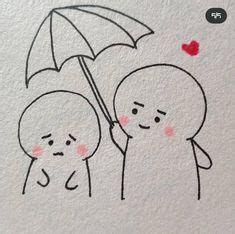 Cute Doodles Drawings, Cute Doodle Art, Bff Drawings, Doodle Art Designs, Cute Easy Drawings, Mini Drawings, Cute Little Drawings, Cute Cartoon Drawings, Art Drawings For Kids