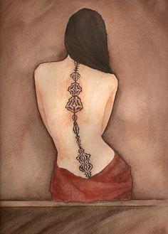 inspiration for Cassandra's large back tattoo