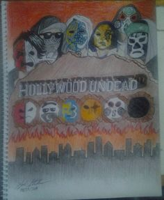 Hollywood Undead Fan Art by KyleThaArtist