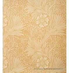Marigold wallpaper from the Morris & Co Archive Wallpaper collection. A two tone yellow floral and leaf wallpaper, circa This wallpaper has a matching linen fabric, shown below. William Morris Tapet, William Morris Wallpaper, Morris Wallpapers, Modern Wallpaper Designs, Designer Wallpaper, Arts And Crafts Furniture, Furniture Ideas, Art And Craft Design, Chalk Pastels