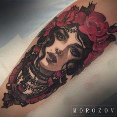 #tattoo#tattooed#tattoos#tattooart#tattooflash#portrait#portraittattoo#blackandgreytattoo#blackandred#girl#femaleportrait#roses#art#morozov#mvtattoo#mv#морозов#татуировка#тату