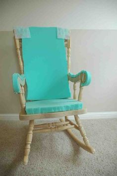 Adding Comfort to a Wooden Rocking Chair - Part One - Makely School for Girls Chair makeover Adding Comfort to a Wooden Rocking Chair - Part One - Makely Rocking Chair Bois, Rocking Chair Covers, Vintage Rocking Chair, Rocking Chair Makeover, Rocking Chair Nursery, Wooden Rocking Chairs, Rocking Chair Cushions, Diy Chair, Wooden Chair Makeover