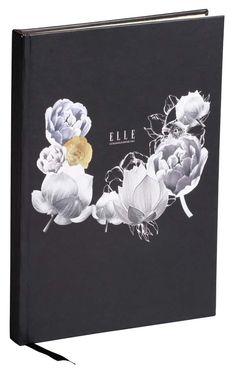 Black and Gold Elle journal with gold lining/ Zwart gouden ELLE dagboek met gouden pagina randen