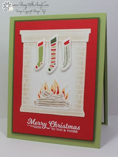 Festive Fireplace - Stamp With Amy K
