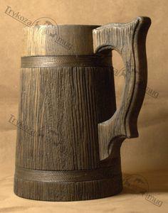 Juego de tronos taza cerveza madera taza 07 l por WoodenMugStudio