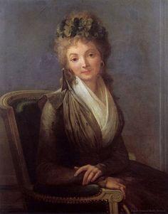 Portrait de Lucile Duplessis, épouse du révolutionnaire français Camille Desmoulin, par Louis-Léopold Boilly