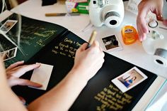 A Polaroid guestbook: 20 Super Fun Wedding Ideas Your Childhood Self Would Love