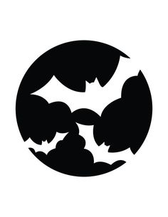 Bats - Free Printable Pumpkin Carving Templates