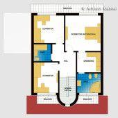 Casa cu etaj 10   Proiecte de case personalizate   Arhitect Gabriel Georgescu & Echipa Architectural House Plans, Kerala House Design, Kerala Houses, Case, Floor Plans, How To Plan, Future, Two Story Houses, Trendy Tree