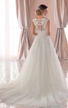 1a0d9c3fdc8 6760 Vintage A-Line Wedding Dress with Soft Train by Stella York Wedding  Dresses Plus