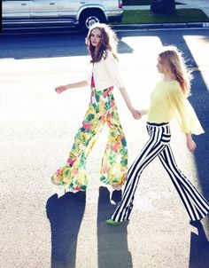 Alice & Olivia Black and white striped pants! Fav clothing line!