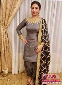 Punjabi Boutique Suits   Zikimo.com - Original Indian Bridal Lehengas Collection 2017