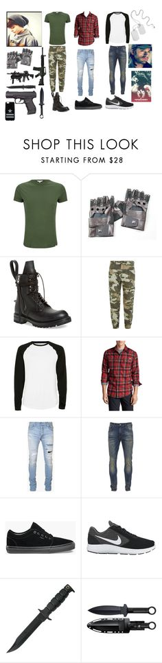 """""""Jack Barnes, son of the Winter Soldier"""" by frootloop16 ❤ liked on Polyvore featuring Orlebar Brown, Rick Owens, True Religion, Topman, Eddie Bauer, Balmain, Scotch & Soda, Vans, NIKE and Cold Steel"""