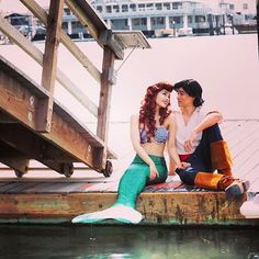 Just a dreamy Thursday with Prince Eric! Doesn't Ariel look stunning in Brynn's Celtic Green tail fom Fin Fun? ☀️️ #princess #Ariel #Disney #FinFun #MermaidTail #cute  Fin Fun Mermaid Tail: Brynn's Celtic Green : @kiers