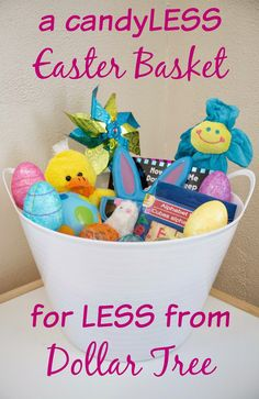 Dollar tree easter baskets dollar tree items pinterest a candyless easter basket wife mommy me negle Choice Image