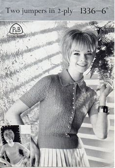 Sweater Knitting Patterns, Knit Patterns, 2 Ply, Vintage Knitting, Needles Sizes, Vintage Ladies, Sweaters For Women, Jumpers, Lady