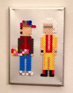 Doc & Marty 2015 - Back to the Future perler beads by Kyle McCoy