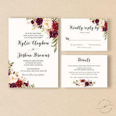 Hochzeitseinladung im Farbschema grau rose green