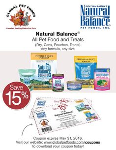 Natural balance cat food coupons 2019