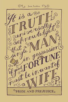 Jane Austen Covers: Pride and Prejudice Art Print