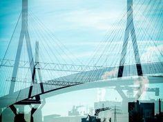'The Köhlbrand-Bridge at Hamburg' von Gabi Hampe bei artflakes.com als Poster oder Kunstdruck $20.79