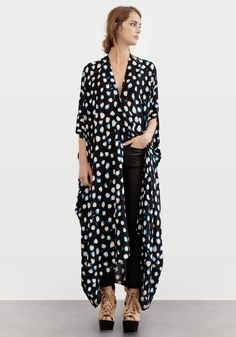 CAFTAN AGAVE NUT BLACK | More colors + in the group All items / Dresses at Rodebjer Form AB (1300185999)