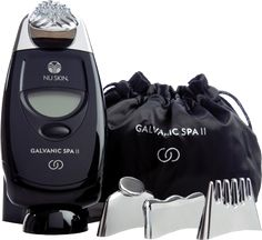 Nu Skin Galvanic Spa System II Black With Attachments And Two Gel Pkgs-Unopened Galvanic Body Spa, Ageloc Galvanic Spa, Nu Skin Ageloc, Galvanic Facial, Beauty Kit, Beauty Care, Beauty Packaging, Beauty Essentials, Face And Body